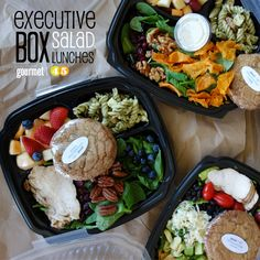 executive SALAD box lunches! #yummy #salad #healthy #lunch