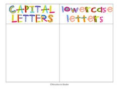 Daily 5 Word Work:  Capital Letters/lowercase letters FREEBIE!