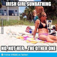 Irish Girl Sunbathing