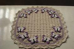 Tapete Borboletas | Claudinha Croche | Elo7