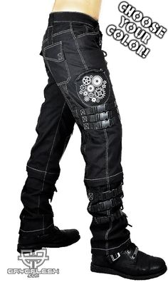 Cryoflesh Fallout Gear Steampunk Gothic Metal Industrial Hardcore D Ring Pants