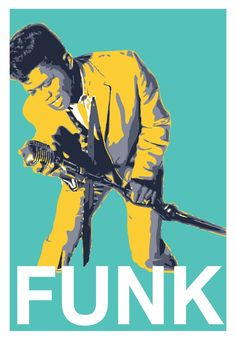 """Unique James Brown FUNK poster Limited Edition 16""""x24"""""""