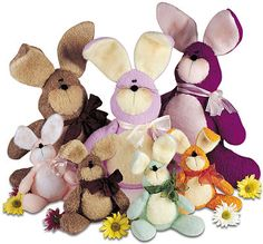 Cute felt bunny pattern.  These would be so cuddly in fleece. There is a complete how-to in link and a PDF pattern.