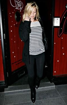 Kate Moss in stripes
