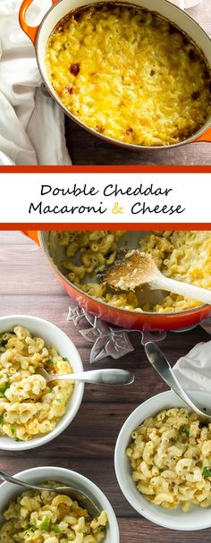 Rich and creamy macaroni and cheese made with two types of cheddar cheese - this is serious comfort food! | girlgonegourmet.com