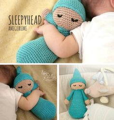 Crochet Sleepy Doll Pattern Sleepyhead Video Tutorial You will love this adorable Crochet Sleepy Doll Pattern. This Sleepyhead has been so popular and we have a video tutorial to show you how. Crochet Baby Toys, Baby Girl Crochet, Crochet Bear, Cute Crochet, Crochet For Kids, Crochet Crafts, Baby Knitting, Crochet Projects, Diy Crafts