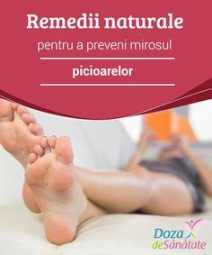 Remedii naturale pentru a preveni mirosul picioarelor  Mirosul picioarelor poate fi provocat de o serie de factori, cel mai comun fiind lipsa igienei și înmulțirea excesivă a bacteriilor. Mirosul picioarelor și transpirația acestora pot fi jenante, dar cu ajutorul câtorva remedii naturale puteți scăpa cu succes de ele. Iată cateva remedii naturale pentru prevenirea mirosului picioarelor și a transpirației excesive. Good To Know, Health Care, Home Remedies, Health