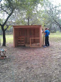 Good idea for a little goat shed