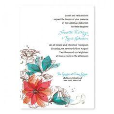 Garden Bouquet Wedding Invitations
