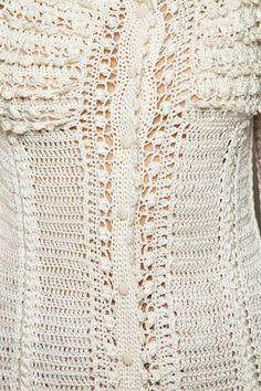 Casaco Crochet Lady Like Off White - Vanessa Monto - vanessamontoro