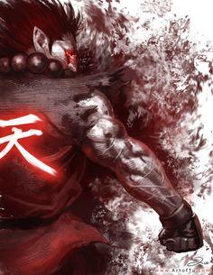 Akuma (Street Fighter) by ArtofTu