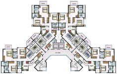 Architecture is art Condominium Architecture, Social Housing Architecture, Concept Architecture, Residential Architecture, School Building Design, Building Design Plan, School Floor Plan, Residential Building Plan, Habitat Collectif