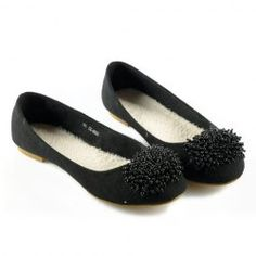 $17.76 Casual Women's Flat Shoes With Solid Color Beaded Suede Design