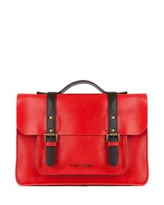 SKOLDAY - Leather satchel