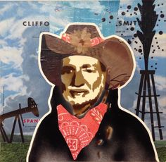 WILLIE AS OIL BARON -- 12 x 12in -- Mixed Media on Board -- CONTACT: annegenung@gmail.com