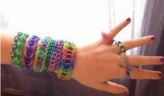 Las 13 mejores imágenes de pulseras gomas | Loom bracelets
