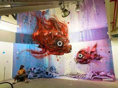 "Amazing ""Trash-Art"" Murals By Street Artist Bordalo II"