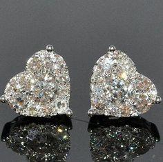 Vir Jewels cttw Certified Diamond Stud Earrings White Gold with Screw Backs – Fine Jewelry & Collectibles Bling Bling, Diamond Jewelry, Diamond Earrings, Diamond Studs, Opal Jewelry, Solitaire Earrings, Tourmaline Jewelry, Diamond Necklaces, Black Tourmaline