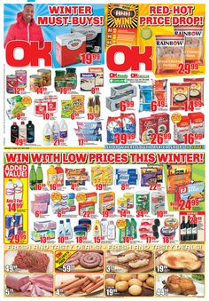 OK Grocer Danabaai's amazingly low prices, valid from 24 July 2013 to 04 August 2013. Offers valid while stocks last. Selected items may not be available. No traders. We reserve the right to limit quantities. August 2013, Pop Tarts, Snack Recipes, Food, Snack Mix Recipes, Appetizer Recipes, Essen, Meals, Yemek