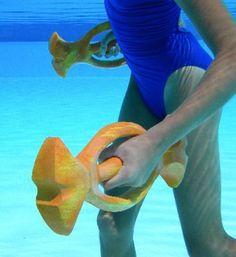 Easy Grip Pool Dumbbells Arthritis Aquatic Workout Water Weights Hand Buoy 6046   eBay
