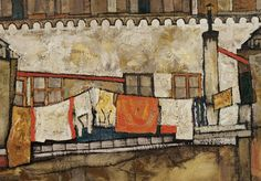 detail from House Wall on the River_ Egon Schiele 1915