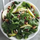 Original Spinach, Pear and Pomegranate Salad Recipe from williams-sonoma.com.. Like this one better