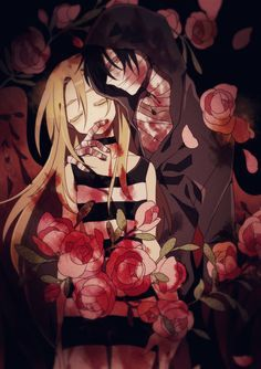 Satsuriku no Tenshi {Angels of Death} - Isaac Foster and Rachel Gardner Angel Of Death, Manga Angel, Manga Romance, Gurren Laggan, Onii San, Maou Sama, Mad Father, Satsuriku No Tenshi, Rpg Horror Games