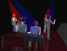 MARIO STRACK - The Band  2  limitierte Grafik handsigniert Bilder print Bild art