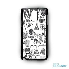 5 SOS Blink 182 All Time Low Coldplay Pierce The Veil for Samsung Galaxy Note 2/Note 3/Note 4/Note 5/Note Edge phone case