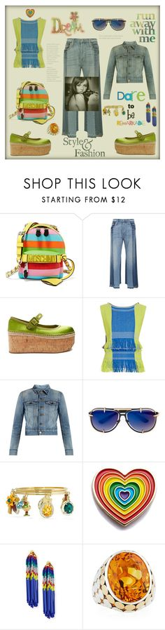 """""""Run away with me"""" by zabead ❤ liked on Polyvore featuring Moschino, Frame, Miu Miu, Issey Miyake, Yves Saint Laurent, Frency & Mercury, Dolce&Gabbana, Laser Kitten, Lele Sadoughi and John Hardy"""
