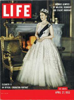 Elizabeth II: An Official Coronation Portrait for Life Magazine, 1953. She's very pretty