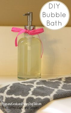 Calming bubble bath?  Yes, please!  Even though I love a nice relaxing bubble bath it is usually the kids that get to enjoy them at my house right now.  Bubble baths can be fun for all ages. Recently we have been looking to add more natural products to our lives.  After a little research I found we could make our own natural lavender bubble bath.  This DIY bubble bath is easy enough to have the ki...