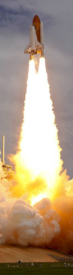 Space shuttle Atlantis launching