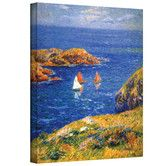 Found it at Wayfair - Art Wall ''Calm Seas'' by Henri Moret Painting Print on Canvas