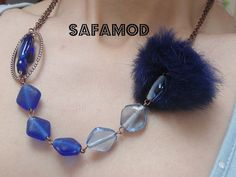 Necklace  #retro  #romantic   #fur from Safamod Jewelry by DaWanda.com