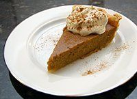 Butternut Squash Pie - I made it with Glutino's pie crust and substituted the milk with coconut milk..... SO good!!!