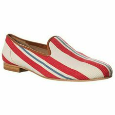 Ramon Tenza Taylor Loafer Flats Striped Condition: New  Ramon Tenza, fashion designer in Spain, launched his line in 1994. His creations characterize the new coordinates with a precious and sophisticated glamour. It is symbolic of the modern woman who wants it all on her feet.perfect for every day. Fantastic way to show your patriotic flair! Ramon Tenza Shoes Flats & Loafers
