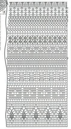 Fabulous Crochet a Little Black Crochet Dress Ideas. Georgeous Crochet a Little Black Crochet Dress Ideas. Filet Crochet, Plaid Au Crochet, Crochet Stitches Chart, Crochet Motifs, Crochet Diagram, Crochet Granny, Crochet Lace, Crochet Skirts, Crochet Clothes