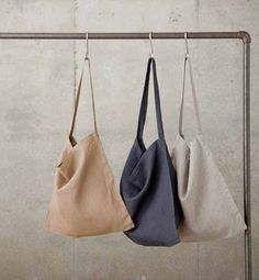 crick & watson / flw - johann across-the-chest bag w x h x handles: natural / beige / blue-grey Small Boutique Ideas, Shopping Bag Design, Design Bleu, Japanese Bag, Ethnic Bag, Bow Bag, Latest Bags, Linen Bag, Fabric Bags