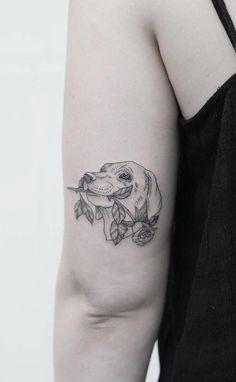 Meaningful The Best 30 Pet Memorial tattoo dogs design ideas Bild Tattoos, Dog Tattoos, Animal Tattoos, Body Art Tattoos, Small Tattoos, Tatoos, Sleeve Tattoos, Piercing Tattoo, I Tattoo