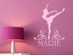 Good Niedliches Ballettmotiv f rs Kinderzimmer Idividualisierbar mit dem Namen Ihres Kindes In kaum einem anderen Raum