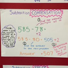 Subtraction strategies!