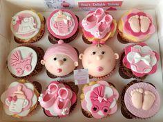 Baby Girl Cupcakes, Baby Shower Cupcakes, Shower Cakes, Themed Cupcakes, Girl Cakes, Baby Girl Newborn, Cake Ideas, Babys, Cupcake Cakes