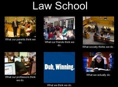 And you?  What are you doing in law school?