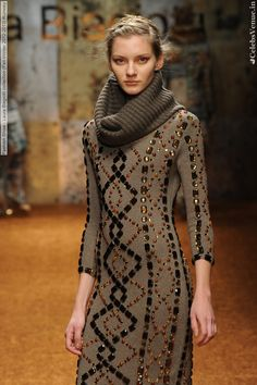 Laura Biagiotti ~ http://VIPsAccess.com/luxury-hotels-caribbean.html...pretty sweater dress..I have a ton & love weraing them in fall/winter.
