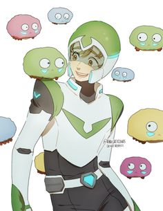 Pidge Gunderson with the little buddies she made on the planet she was stranded on.