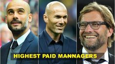 Football Fame have counted down the top 10 highest paid managers in football. Football, Marketing, Tops, Soccer, Futbol, American Football, Soccer Ball