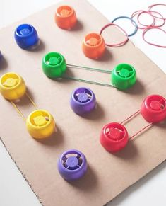 Fine Motor Work Station or Centre Activity Toddler Learning Activities, Montessori Activities, Indoor Activities, Motor Activities, Infant Activities, Kids Learning, Montessori Materials, Games For Kids, Diy For Kids
