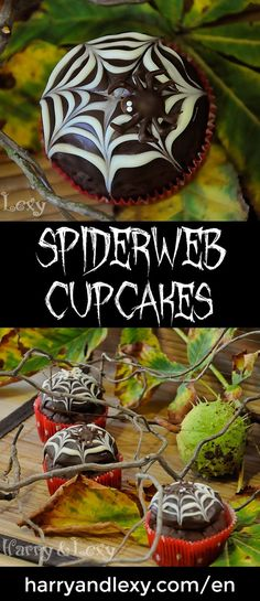 Our gorgeous Halloween Spiderweb Cupcakes with chocolate spiders is the perfect Halloween recipe to adorn your holiday table. Trick or treat!