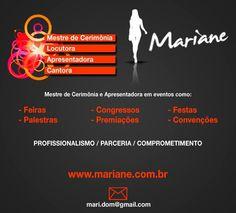 Mestre de Cerimônia/ Apresentadora/ Locutora Mariane.